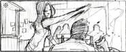 Resident Evil 6 storyboard - Fallen Hero 3