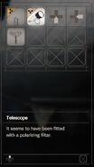 RESIDENT EVIL 7 biohazard Telescope inventory 2