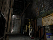 Resident Evil 3 background - Uptown - warehouse back alley e2 - R11D04