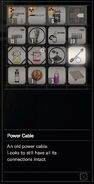 RESIDENT EVIL 7 biohazard Power Cable inventory