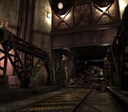 Arklay factory - Laboratory passage background 9