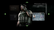 Chris BSAA Character Select