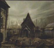 Resident Evil 4 concept art - Village Centre 4