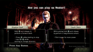 RE0HD Wesker Mode controls
