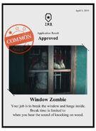 Zombieswanted window zombie