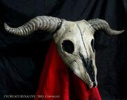Goat skull re4 mask2