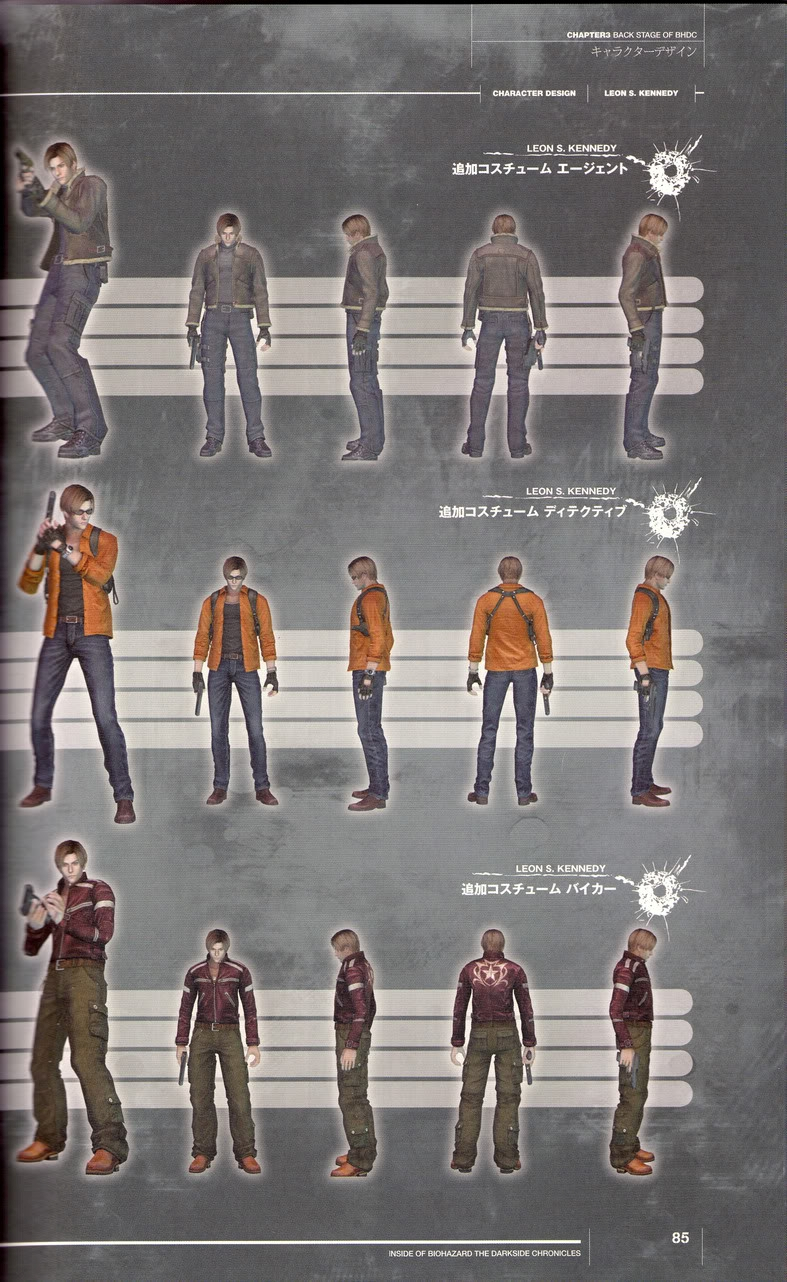 Unlockable Costumes In Resident Evil The Darkside Chronicles