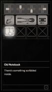 Resident Evil 7 Teaser Beginning Hour notebook inventory 2