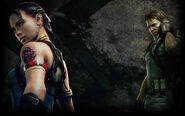 Resident Evil 5 Biohazard 5 Background Chris and Sheva