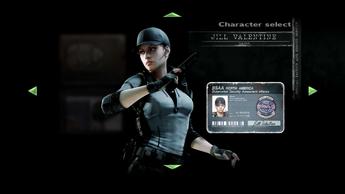 Jill BSAA Character Select