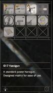 RESIDENT EVIL 7 biohazard G17 Handgun inventory