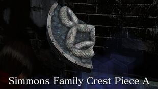 simmons family crest. item information simmons family crest