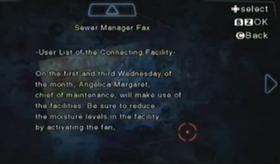Fax al encargado de las alcantarillas
