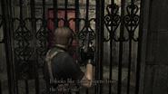 Resident Evil 4 Castle - Temple locked gate
