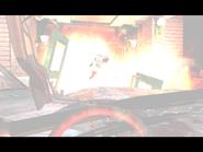 Resident Evil 3 Nemesis screenshot - Uptown - Street along apartment building - Jill Valentine scene 03