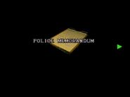 RE2 Police memorandum 01