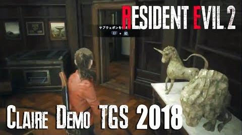 RESIDENT EVIL 2 REMAKE - NEW CLAIRE Gameplay Demo TGS 2018