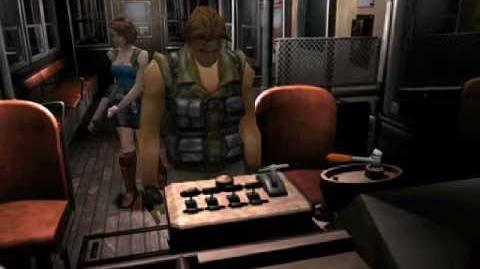 Resident Evil 3 Nemesis cutscenes - Activating the tram (alternate)