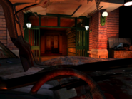 Resident Evil 3 background - Uptown - street along apartment building g - R10D0A