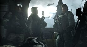 Chris and his BSAA squad Edonia Civil War
