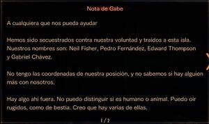 Nota de Gabe