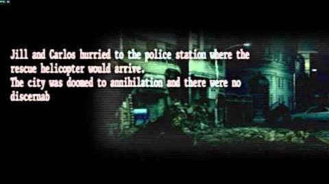 Resident Evil The Umbrella Chronicles all cutscenes - Raccoon's Destruction 2 opening