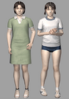Resident evil outbreak yoko suzuki 3d ingame model alternate costumes