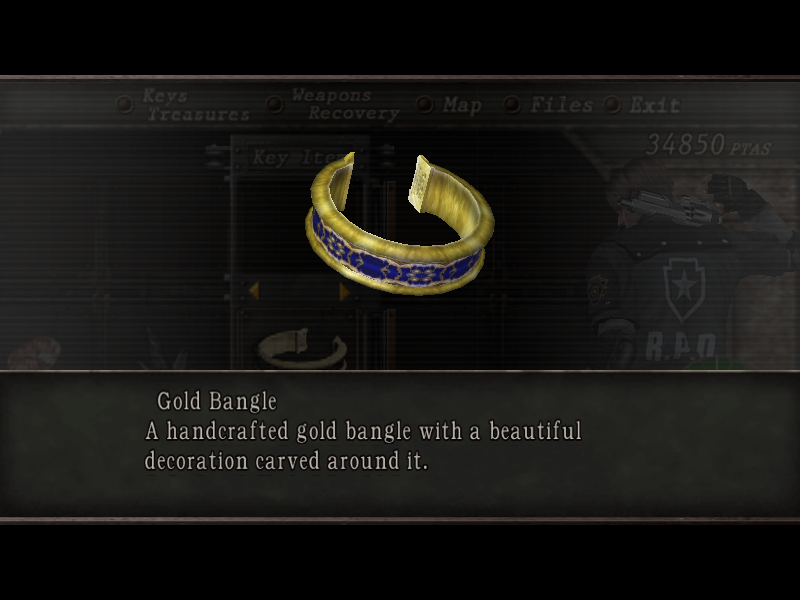 Gold bangle resident evil wiki fandom powered by wikia gold bangle aloadofball Image collections