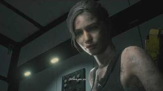 Resident Evil 2 remake all scenes - Claire talks to Leon on the monitor