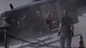 Ada says goodbye to Leon before escaping