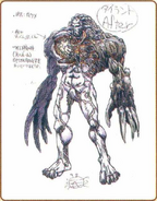 Resident Evil Archives page 216 - Tyrant concept art 1