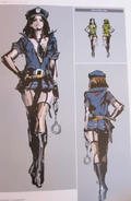 RE6 Helena EX costumes concept art