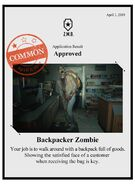 Zombieswanted backpacker zombie