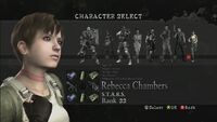 Rebecca The Mercenaries Reunion select screen