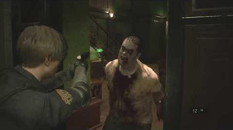 RE2 1-Shot Demo - Zombie can't get to Main Hall