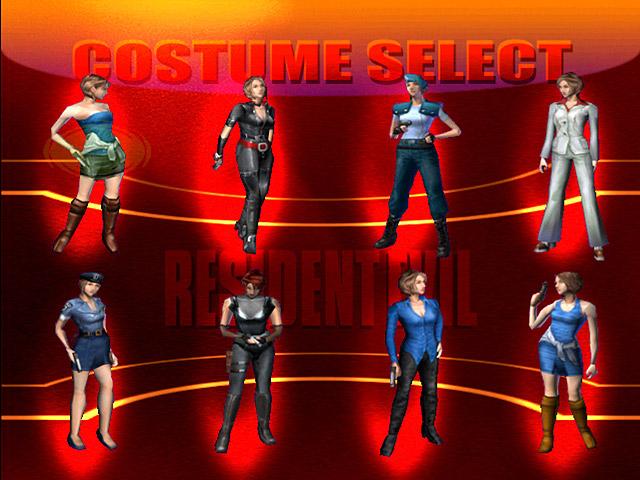 resident evil 3 all jill costumes