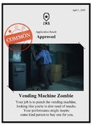 Zombieswanted vending machine zombie