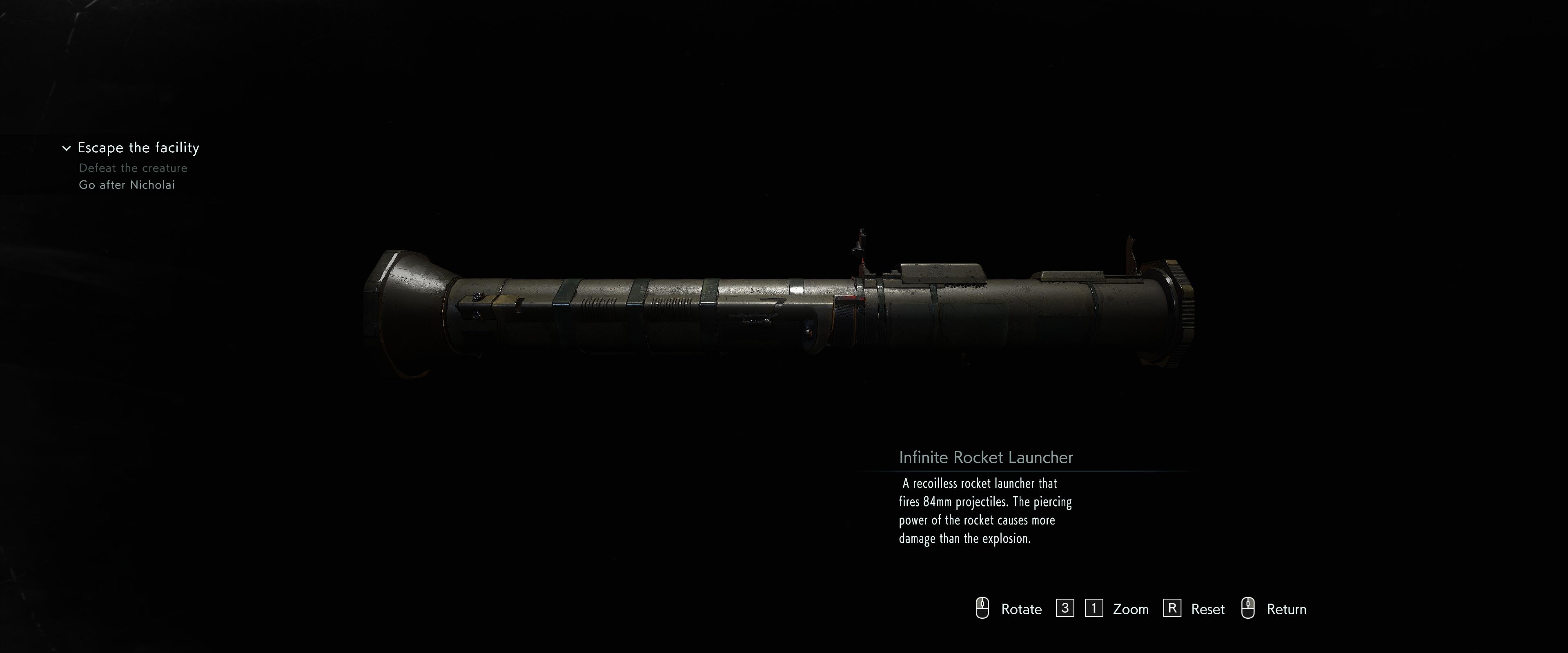 Infinite Rocket Launcher Re3 Remake Resident Evil Wiki Fandom