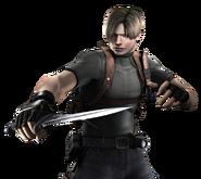 Leon holding knife RE4