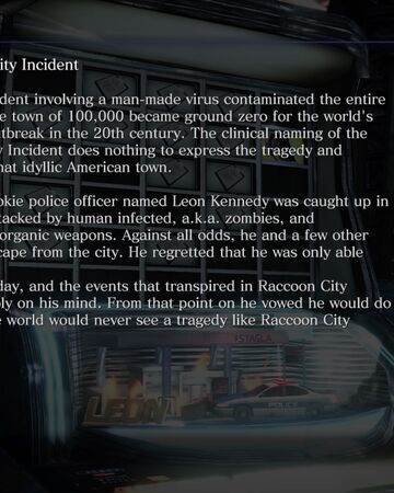 Leon And The Raccoon City Incident Resident Evil Wiki Fandom