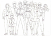 BIOHAZARD 1.5 concept artwork - early character height chart version 2