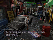 Resident Evil 3 Nemesis screenshot - Uptown - Boulevard examine 04