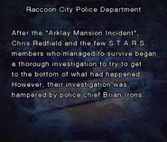 RE DC Raccoon City Police Department file page2