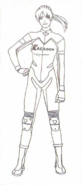 BIOHAZARD 1.5 concept artwork - Elza Walker final standard outfit design line art 1 front