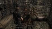 Resident Evil 4 Castle - Underground waterway corpse examine 2