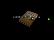 RE2 Secretary's diary A 01