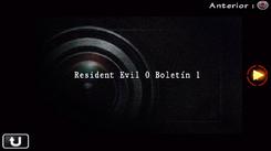 Resident Evil 0 Boletín 1