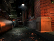 Resident Evil 3 background - Uptown - street along apartment building b - R10D01