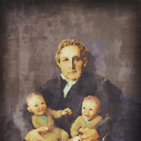 Артур с отцом и братом