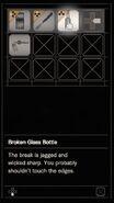 RESIDENT EVIL 7 biohazard Broken Glass Bottle inventory